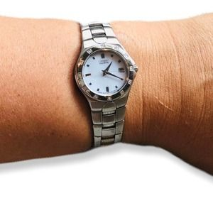 Citizen ECO-DRIVE Silver Silhouette Diamonds Watch